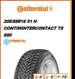 CONTINENTAL 205/55R16 91 H